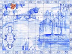 Scene from Little Venice, done as Portuguese tiles