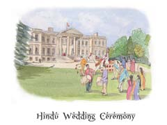 The bridegroom's procession arriving at Ragley Hall